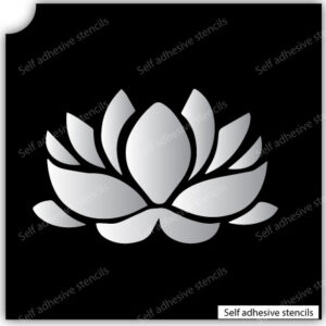 Pochoir Fleur Spa Stencil Tattoo Stickers silhouette vinyle autocollant